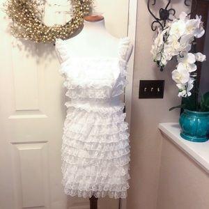 Beautiful White Ruffle Dorothy Perkins Mini Dress